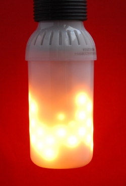 Vuurlamp E27 opaal fitting boven