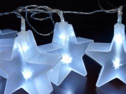 8 sterren met starry foil kleur WIT