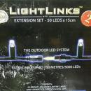 LED light link net 49 leds 1x1 meter WARM WIT