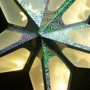 Origami ster 40x40 cm. kleur ZILVER