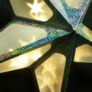 Origami ster 60x60 cm. kleur ZILVER