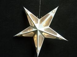 Origami ster 40x40 cm. kleur WIT