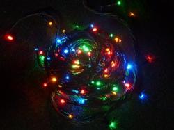 5 METER lichtsnoer met 35 MULTI COLOUR lampjes