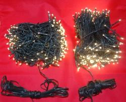 2 X 25 METER lichtsnoer met 500 WARM WITTE LED