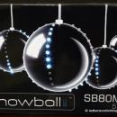Snowball set van 5 stuks kleur ZILVER